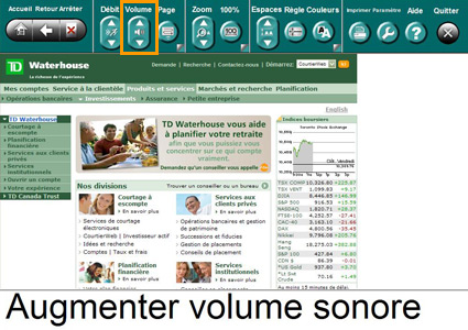 Exemple de la fonction d'ajustement du volume