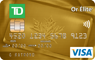Image of TD Gold Elite Visa Card