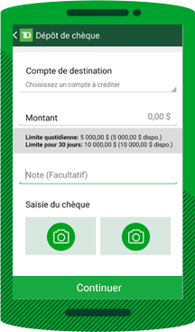 Services Bancaires Depot Mobile Td