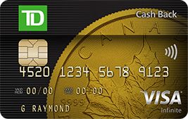 Credit Cards Compare Canada >> TD Cash Back Visa Infinite* Card | TD Canada Trust