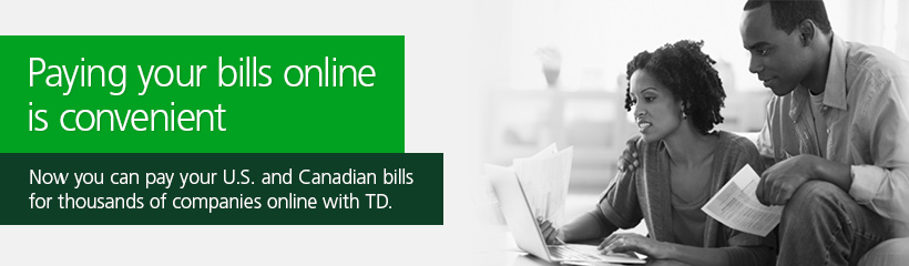 Electronic Banking: Explore EasyWeb - Pay Bills | TD Canada Trust
