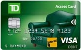 Your TD Access Card's 16-digit number