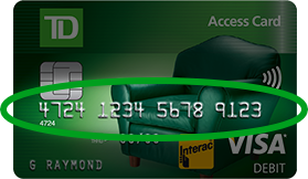 how to add credit card to online banking td