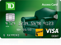 Get TD Access Card with Fraud Alert