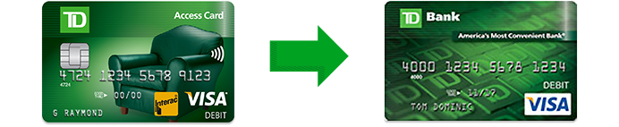 td access card online banking