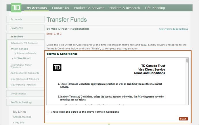 Td Canada Trust Cross Border Banking
