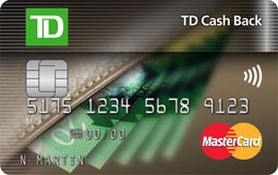 TD Cash Back MasterCard Card