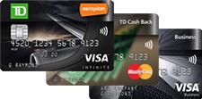 三張堆放的道明信用卡