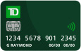 Front of a TD Credit Card