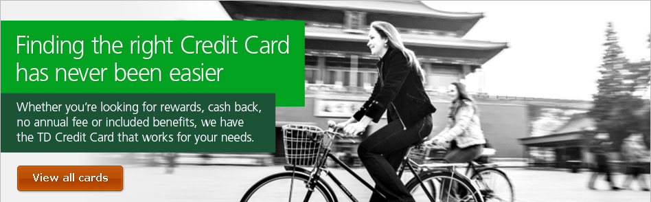 how to pay credit card td canada trust