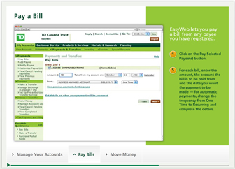 how to pay us bill from canada td bank