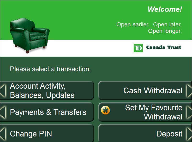 Td Canada Trust Green Machine Atm