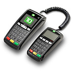 Easy to use countertop POS device with external PINpad that accepts payments quickly and securely.