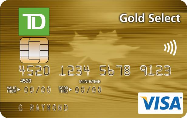 TD Gold Select Visa Card