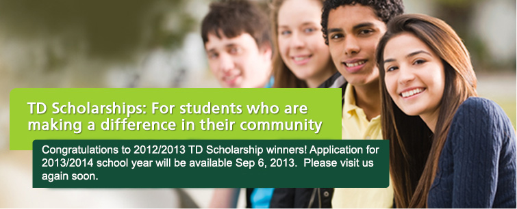 TD Scholarships for Community Leadership