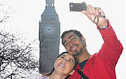 Image of a couple taking a photo in front of Big Ben