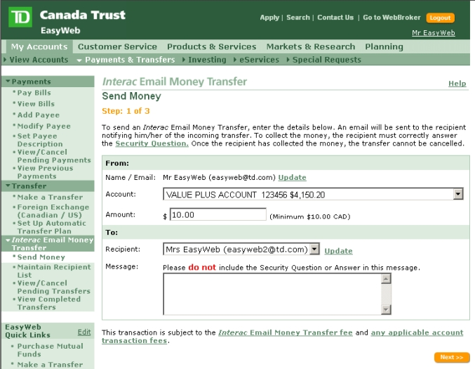 Td canada trust how to find bank transit number