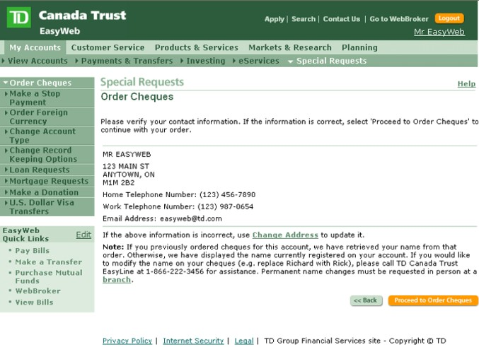 Td canada trust special offers